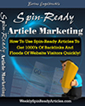 Spin Ready Article Marketing by Bertus Engelbrecht